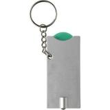 Brelok do kluczy, żeton do wózka na zakupy, lampka LED (V2452-10)