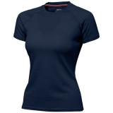 Slazenger Damski T-shirt Serve z krótkim rękawem z tkaniny Cool Fit odprowadzającej wilgoć (33020491)
