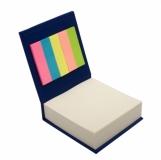 Blok z karteczkami, niebieski z logo (R73674.04)