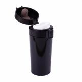 Kubek izotermiczny Casper 350 ml, czarny z logo (R08428.02)