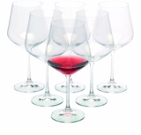 Zestaw 6 kieliszków do czerwonego wina WANAKA 6, 570 ml z logo (H1300400ZH166)