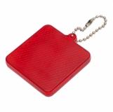 Światełko odblaskowe Square Reflect, czerwony z logo (R73164.08)
