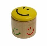Temperówka Happy Face, żółty/brązowy z nadrukiem (R74010)
