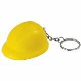 Brelok antystresowy Helmet, żółty z logo (R73922)