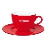 Filiżanka DIANA SET 180 ml czerwony / biały