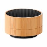 SOUND BAMBOO Głośnik bambusowy z logo (MO9609-03)