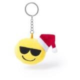 """Brelok do kluczy """"uśmiechnięta buzia"""" ze świąteczną czapką (V8982-08B)"""