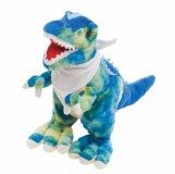 Maskotka T-Rex, niebieski/zielony z logo (R74013)