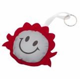 Maskotka odblaskowa Smiling Girl, czerwony/srebrny z logo (R73836.08)