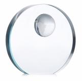 MONDAL Szklana patera glob z logo (MO7183-22)