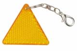 Brelok odblaskowy Seguro, pomarańczowy/żółty z nadrukiem (R73237)