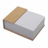 Blok z karteczkami, beżowy z logo (R73671.13)