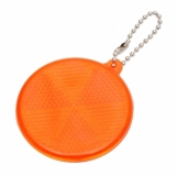 Światełko odblaskowe Circle Reflect, pomarańczowy z logo (R73163.15)
