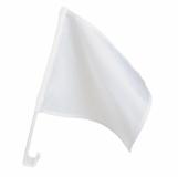 Flaga samochodowa, biały z nadrukiem (R73085)