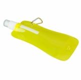Składany bidon Extra Flat 480 ml, żółty z nadrukiem (R08331.03)