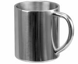 Kubek Strudy 240 ml, srebrny z logo (R08390)