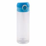 Butelka szklana Abisko, jasnoniebieski z logo (R08284.28)