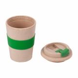 Dwuściankowy Kubek Eco Wheaty 350ml, zielony z logo (R08219.05)