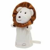 Pacynka Lion, beżowy/brązowy z logo (R73906)