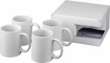 4-częściowy zestaw upominkowy Ceramic składający się z kubków z nadrukiem sublimacyjnym (10062800)