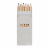ABIGAIL 6 kolorowych ołówków z logo (KC2478-99)