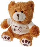 Maskotka Teddy Bear, brązowy z logo (R73851)