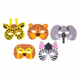 Zestaw masek Animals, mix z logo (R74042.99)