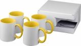 4-częściowy zestaw upominkowy Ceramic składający się z kubków z nadrukiem sublimacyjnym (10062805)
