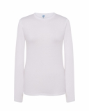 T-shirt Damski z długim rękawem WHITE (TSRL 150 LS WH)