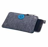 Etui na dużego smartfona Eco Sense, niebieski/szary z nadrukiem (R17680.04)