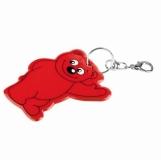 Brelok odblaskowy Beary, czerwony  (R73245.08)