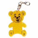 Brelok odblaskowy Teddy, żółty z nadrukiem (R73235.03)