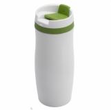 Kubek izotermiczny Viki 390 ml, zielony/biały z grawerem (R08336.05)