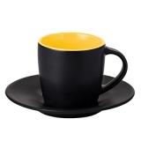 Filiżanka HANDY SUPREME SET 160 ml czarny mat / żółty