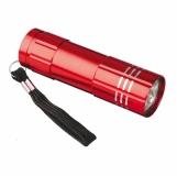 9-diodowa latarka Jewel LED, czerwony z grawerem (R35665.08)