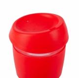 Szklany kubek Stylish 350 ml, czerwony z logo (R08278.08)