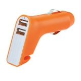 Wielofunkcyjna ładowarka samochodowa USB (P302.408)