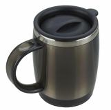 Kubek izotermiczny Barrel 400 ml, grafitowy z nadrukiem (R08368.41)
