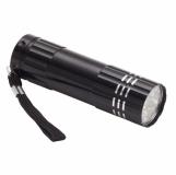 9-diodowa latarka Jewel LED, czarny z grawerem (R35665.02)