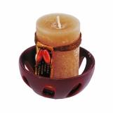 Zestaw świec zapachowych, brązowy z logo (R17477)