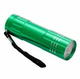 9-diodowa latarka Jewel LED, jasnozielony z logo (R35665.55)