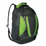 Plecak sportowy El Paso, zielony/czarny z logo (R08659.05)