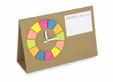 Zegar na biurko POSIT brązowy (03091)