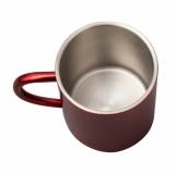 Kubek stalowy Stalwart 240 ml, czerwony z logo (R08490.08)
