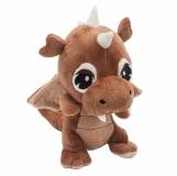 Maskotka Dragon, brązowy z nadrukiem (R73894)