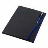Teczka konferencyjna Oristano, czarny/niebieski z logo (R91740.04)