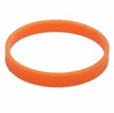 Ozdobna opaska na kubek izotermiczny, pomarańczowy z logo, granatowy (R00001.15)