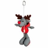 Brelok odblaskowy Reindeer, szary/czerwony  (R73839)