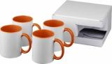 4-częściowy zestaw upominkowy Ceramic składający się z kubków z nadrukiem sublimacyjnym (10062806)