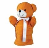 Pacynka Teddy Bear, brązowy z nadrukiem (R73903.10)